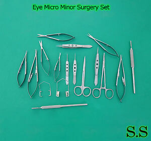 20 PC EYE MICRO MINOR SURGERY OPHTHALMIC VETERINARY SURGICAL INSTRUMENTS Set