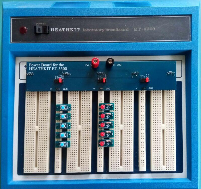 Heathkit ET-3300 Breadboard Power Distribution Board & Accessories