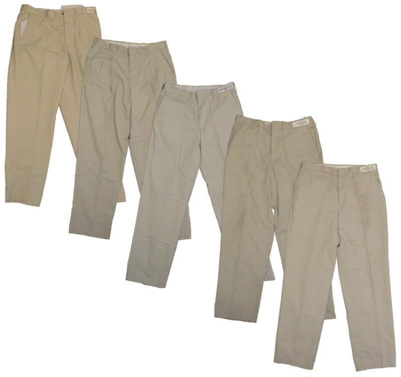 5 Used Tan Khaki Beige Uniform Work Pants Cintas, Dickies, Redkap Ect