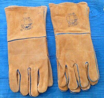 2 Pair Premium Brown Leather Cowhide Welding Gloves Tool Welder Safety 14