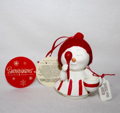 Kiss The Cook ~ Snowpinions Ornament Dept 56 New