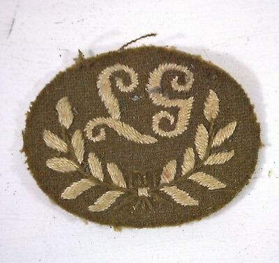 WW2 LIGHT MACHINE GUN CLOTH BADGE