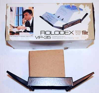 Rolodex Vip File Vip-35 500 Cards Contact Business In Box
