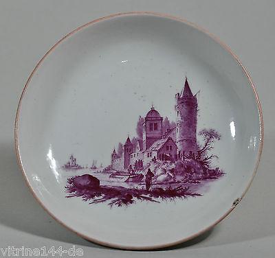 Oude Loosdrecht 1771-1784 Johannes de MOL Untertasse - saucer -Teller - plate