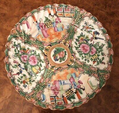 Hand made single pattern tray flower motifs wavy edges