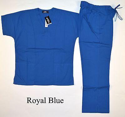 Womens/Ladies Medical Scrubs Full Sets and singles: Teal, Wine, Sage, Blue - Medical Scrubs Sets