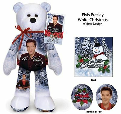 Elvis Presley White Christmas Bear --- Great Friend Gift Ideal ()