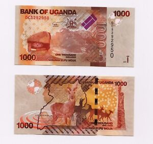 Uganda 1000 (1,000) Shillings, 2017, P-49, UNC