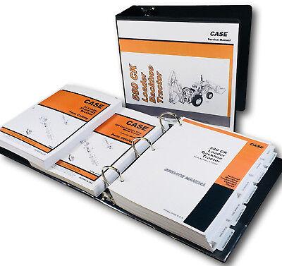 Case 580ck Tractor Loader Backhoe Service Parts Manual Shop Book Set 1340pgs