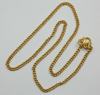 24K Solid Yellow Gold Cuban Link Chain Necklace 12.7 Grams