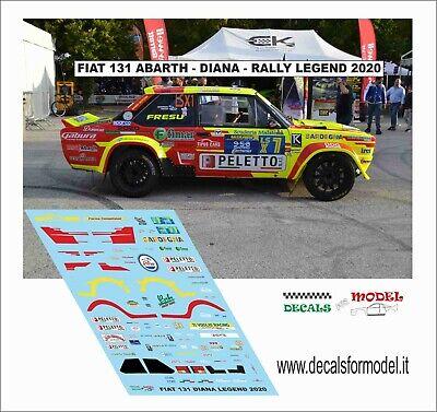DECALS 1/43 FIAT 131 ABARTH DIANA RALLY LEGEND 2020