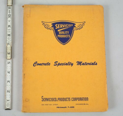 1963 Lot Concrete Specialty Materials Binder Full of Construction Brochures Book