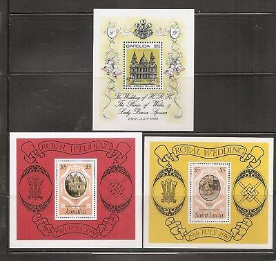 British Commonwealth , Royal Wedding 1981. Souvenir sheets .MNH