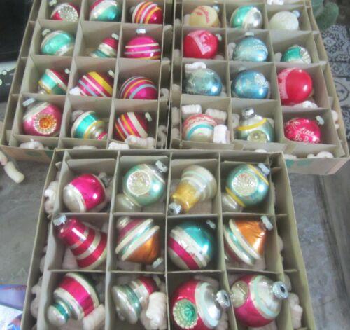 Vtg Lot of Shiny Brite Ornaments & More - Diorama,Sugar