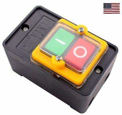 Us 1 Piece Kao-5 On Off 10a Case Waterproof Emergency Stop Switch Push Button