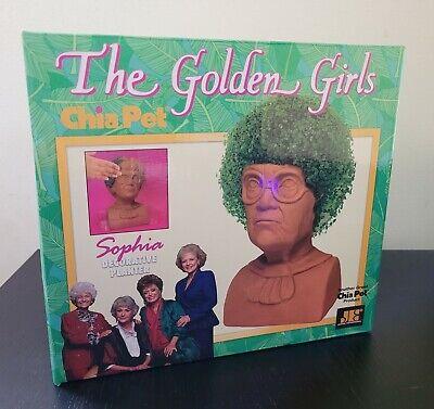 Chia Pet The Golden Girls Sophia Decorative Planter New In Box Plant Seeds