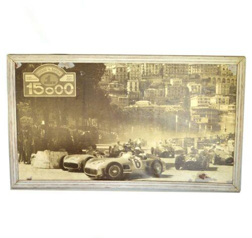 Vintage Antique store Advertising Car race monaco rally Koebau Rapida offset -e
