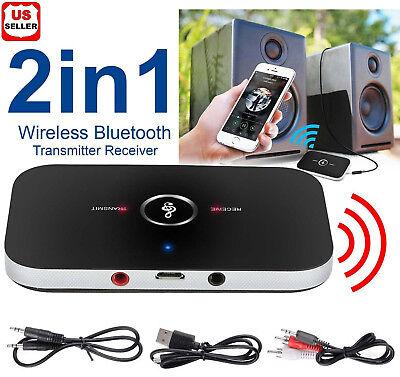 - Bluetooth V4 Transmitter & Receiver Wireless A2DP Audio 3.5mm Aux Adapter Hub A6