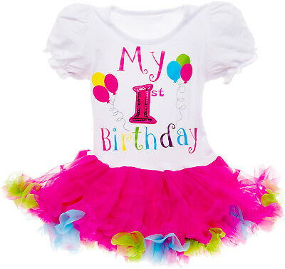 Silver Lilly Baby Girls 'It's My Birthday' Printed Tutu Dress Outfit - Silver Tutus