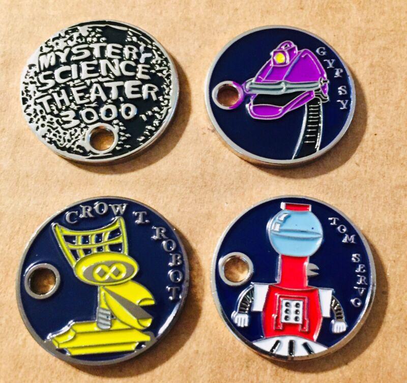 Set Of 4 Mystery Science Theater 3000 Inspired Extagz Tom Crow Gypsy Moon Logo