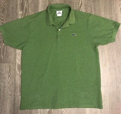 Men's Lacoste Sport Short Sleeved Green Polo Golf Shirt Crocodile Logo 5 Medium