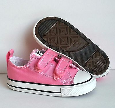 Converse Chuck Taylor Pink 2 Strap 2V OX Infant Toddler Girls Shoes All Sizes