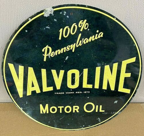 Valvoline Motor Oil Old Logo Aluminum Metal Retro Sign 12""