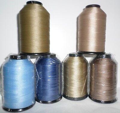 69 (Tex 70) Light-Middle Weight Bonded Nylon 4 oz. 1500 yds. Many Colors 69 Bonded Nylon Thread