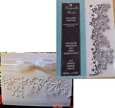 Snowflake Border - Christmas Snowflake metal die Frostyville Border Memory Box dies 98146 Holidays