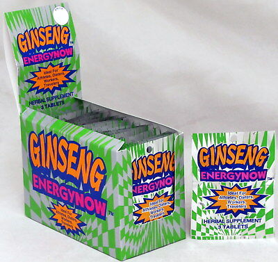 Ginseng Energy Now Herbal Supplements Box of 24 Packs 72 Pills Weight Loss