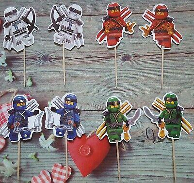 24 x Ninjago Muffin Kuchenstecker Kuchen Cupcakes Geburtstag - Ninja Superheld