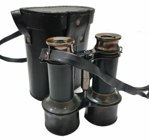 Nautical Brass Binocular Marine Antique Monocular With Leather Box New Year Gift