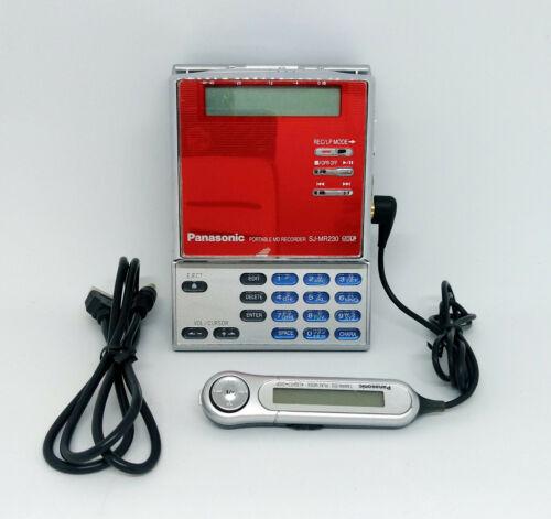 Panasonic SJ-MR230 MiniDisc MD player/recorder *Works*