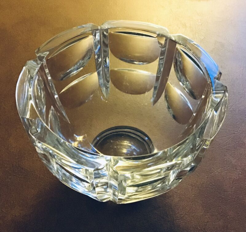 Orrefors Thousand Windows Pattern Candy Bowl Signed