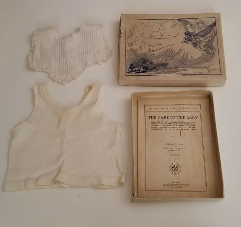 Antique Vintage 1900-1920 Marx-Haas Advertising Boxed Infant Clothing