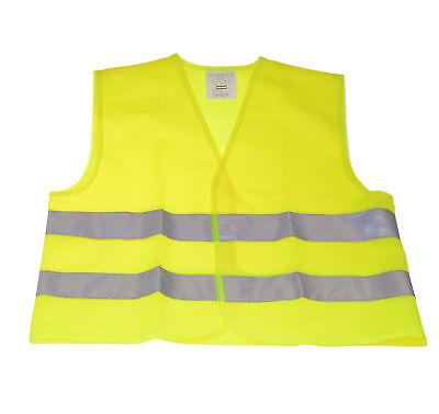 Kinder Warnweste nach DIN EN 1150 Größe: S Sicherheitswarnweste Neon Gelb