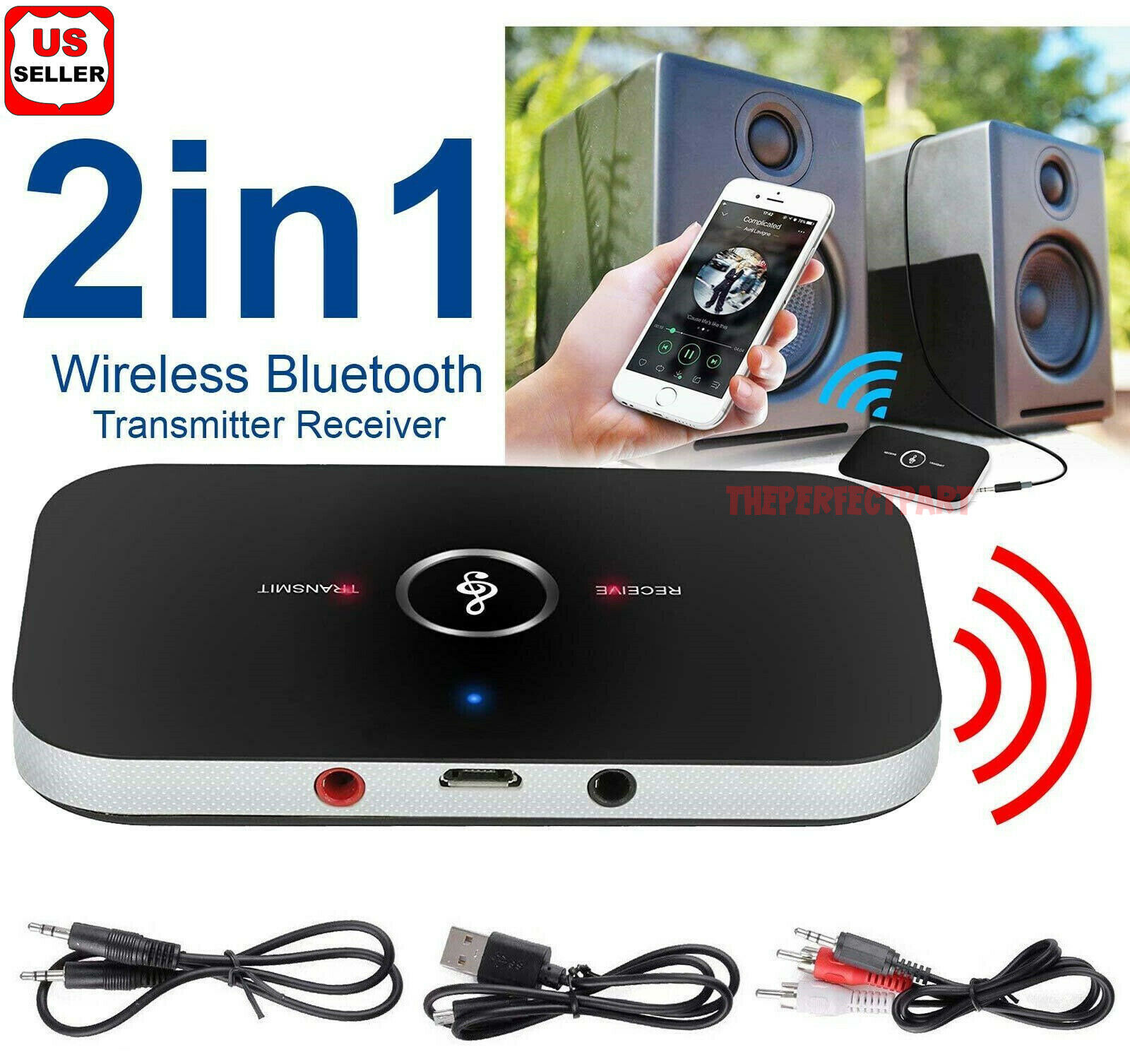 2 in1 Wireless Bluetooth 4.0 Transmitter & Receiver Audio 3.