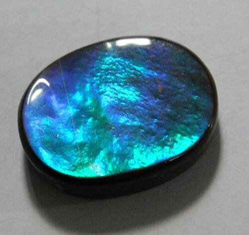 14.50 Cts Natural Canadian Ammolite Cabochon Loose Gemstone 19X15X5MM BC03