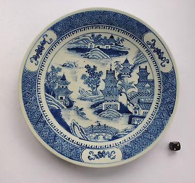 China Porzellan Teller Jiaqing porcelain plate pagoda river 18th/19th porcelaine