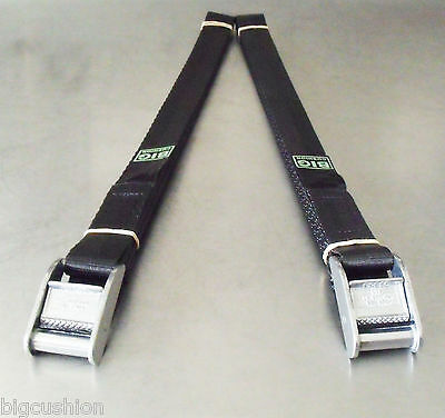 2-pack of 2.5m x 25mm Cam Buckle Tie-Down Endless Lashing 400kg; Cargo Straps