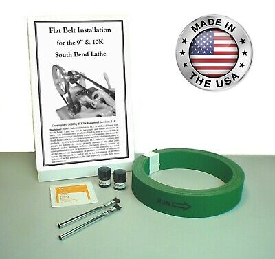 New 34 Premium Flat Drive Belt For All South Bend Lathe 9 10k Models