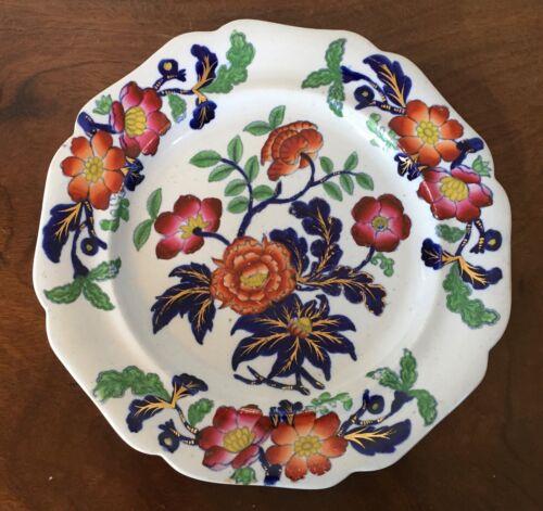 Antique 19th c English Staffordshire Ironstone China Plate Ridgway Chinese Imari