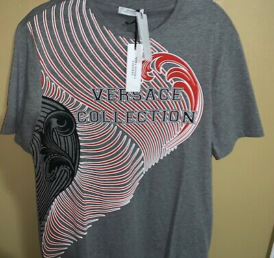 NWT MENS VERSACE COLLECTION T-SHIRT SZ XL GREY