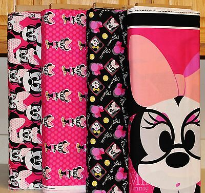 Disney Minnie Mouse World Panel & Coordinating Fabrics bty SOLD SEPARATELY