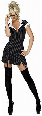 Smiffys, Damen Sekretärin Kostüm, Kleid, Brille und Strumpfhalter, Größe: M,...