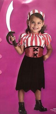 Mini Pirate Girl Toddler Costume Dress up 3T-4T (Toddler Girl Pirate Costume)