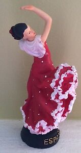 Flamenco Dancer Spanish Lady Figurine