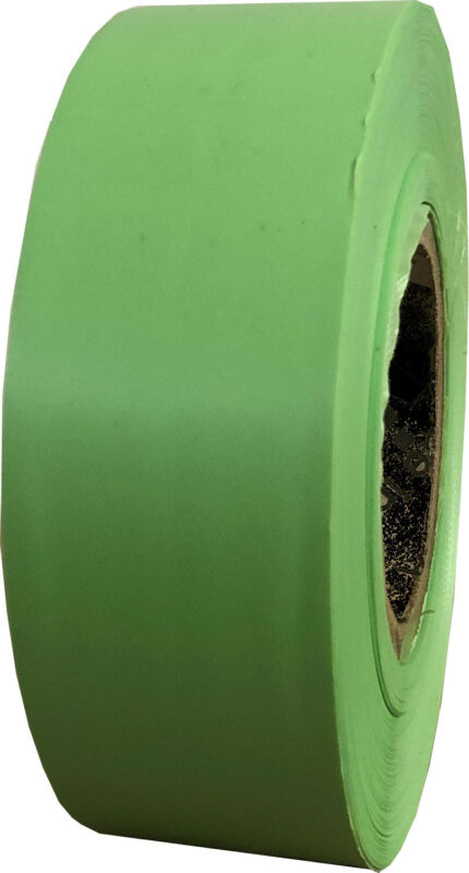 Tomato Green Flagging Tape 1 3/16 x 300 ft Roll Non-Adhesive