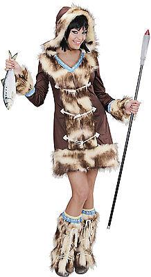 Sexy Inuit Eskimo Girl Kostüm NEU - Damen - Eskimo Kostüme Damen