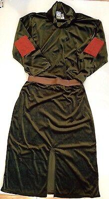 NWT Disney Store Adult Mens S/M Robin Hood Little John Green Plush Robe Costume